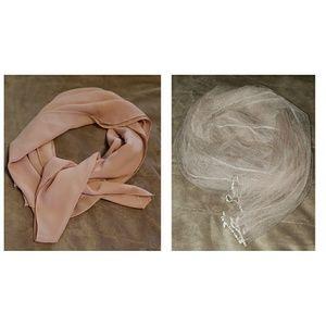 2 Blush Pink Shawls